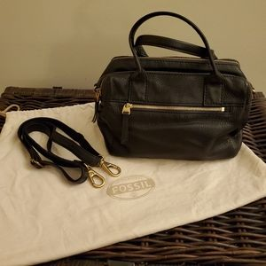 Fossil Leather Satchel Handbag